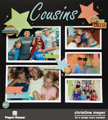 cousins layout, want2scrap, overlay, paper house productions