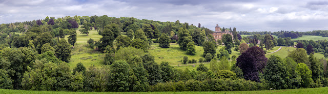 Cotswolds landscape around Rendcombe College in Gloucestershire
