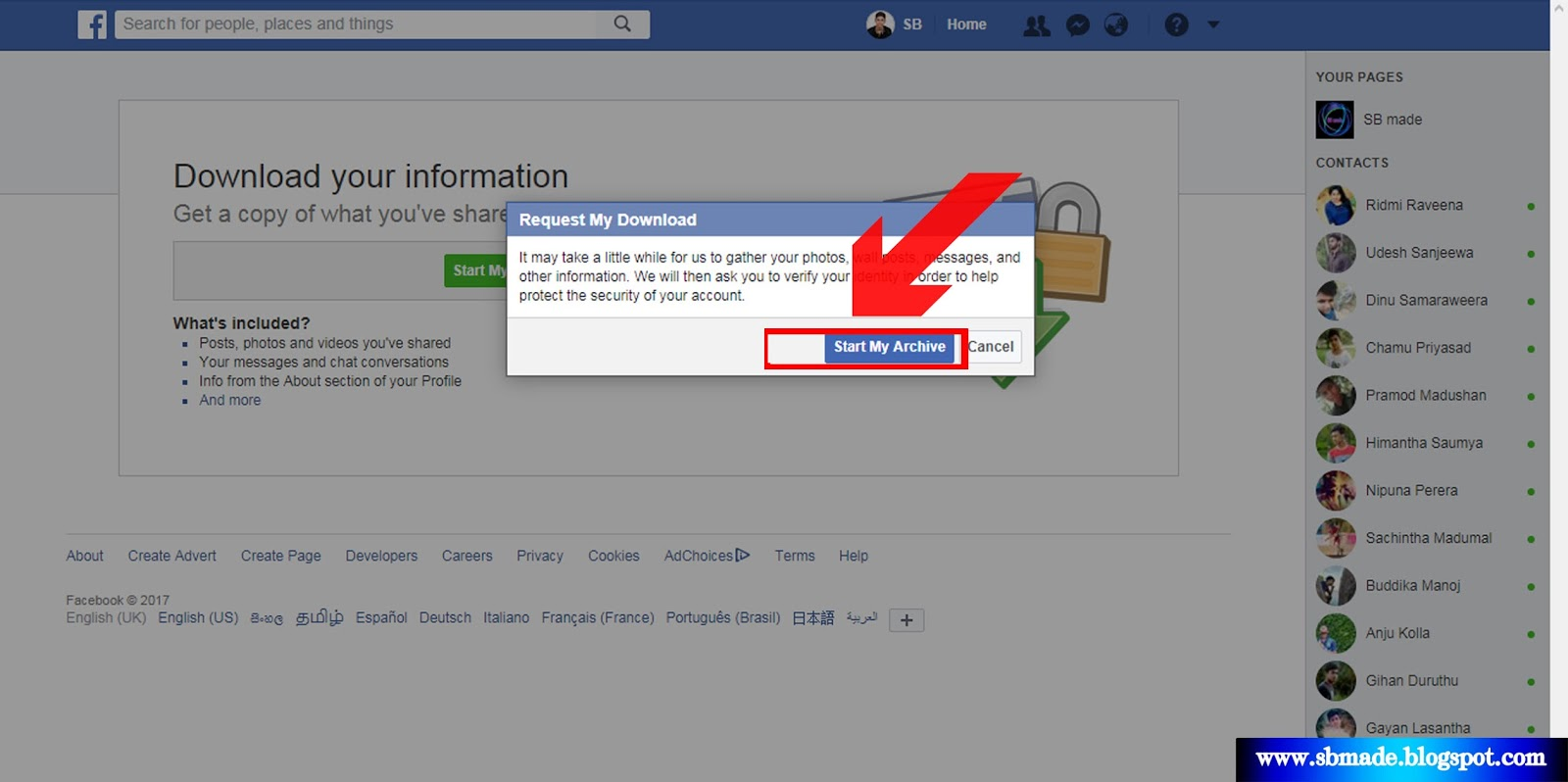 how to delete all facebook data