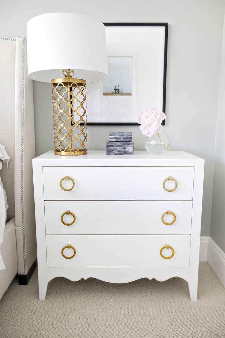 Mixing Styles Master Bedroom Nightstands Feathers And Stripes