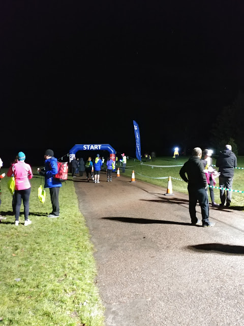 Night run finish line