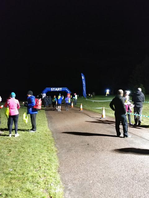 Night run finish line