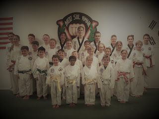 Students from a martial arts spring break day camp in Lakewood CO