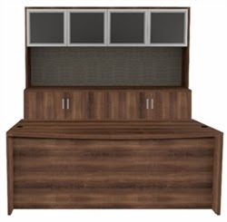 Amber AM-390N Desk and Credenza Set
