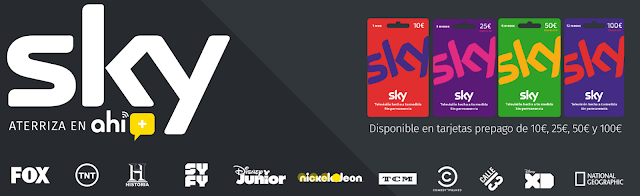 Ahí+ ofrece Sky como servicio de televisión