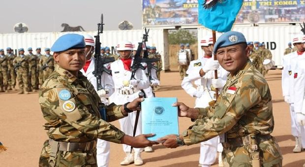 Serah Terima Jabatan Komandan Satgas UNAMID di Sudan