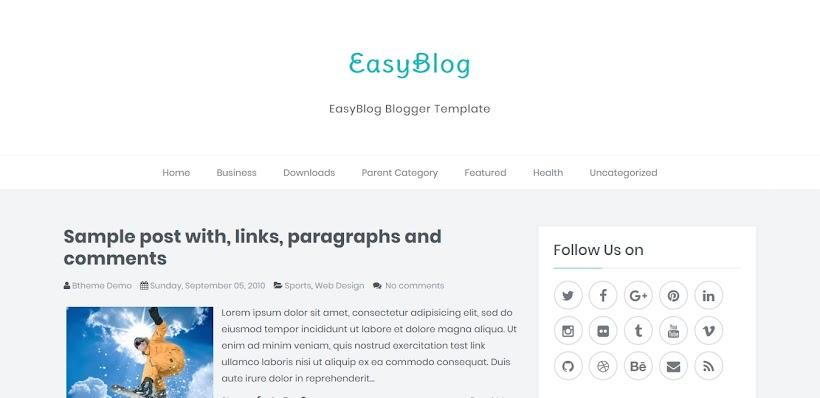 EasyBlog Free Blogger Template