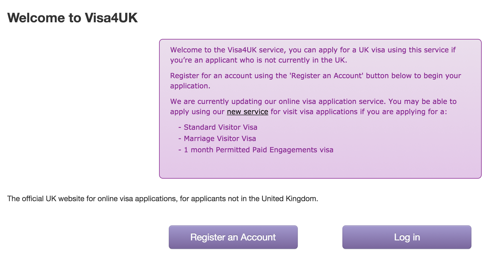 uk visa application status page