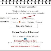 Cara Membuat Favicon Blog Sendiri Melalui Online