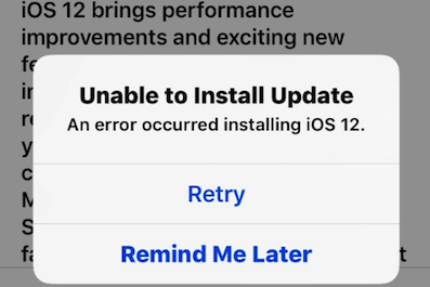 "How To Fix ""An Mistake Occurred Installing Ios 12.1.4"""