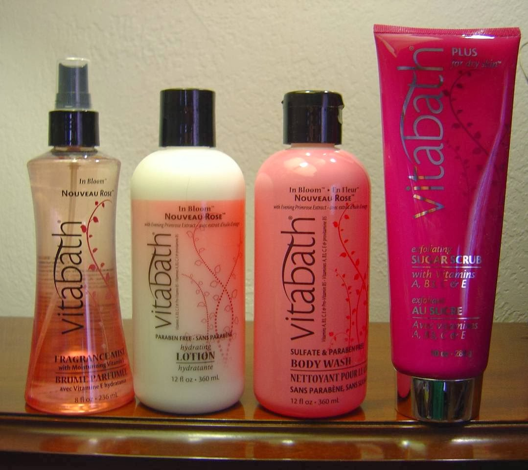 four Vitabath In Bloom Nouveau Rose Bath products.jpeg