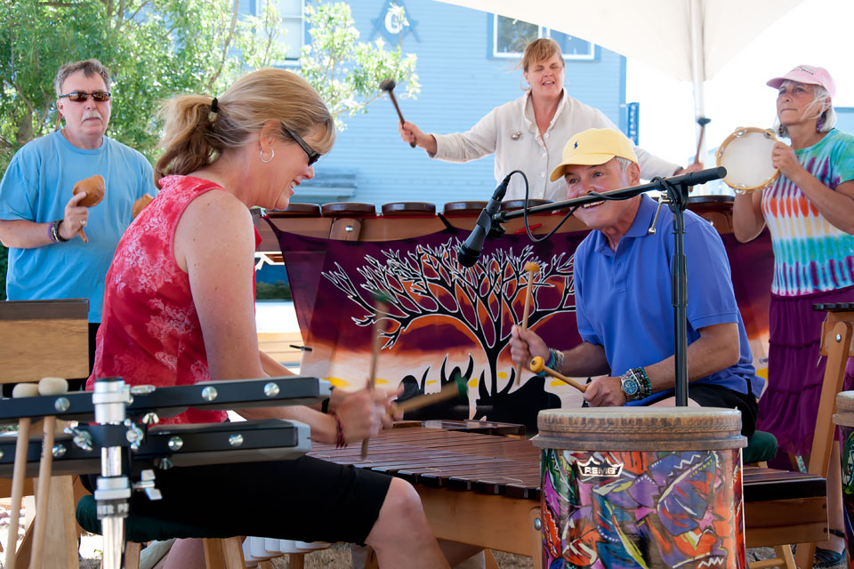 Kubatana Marimba performs at the 2009 Summer Arts Festival.