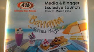 BBM alias Banana Berries Magic, Menu Baru Di A&W Restaurant