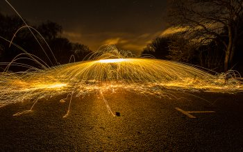 Wallpaper: Wire Wool Spinning