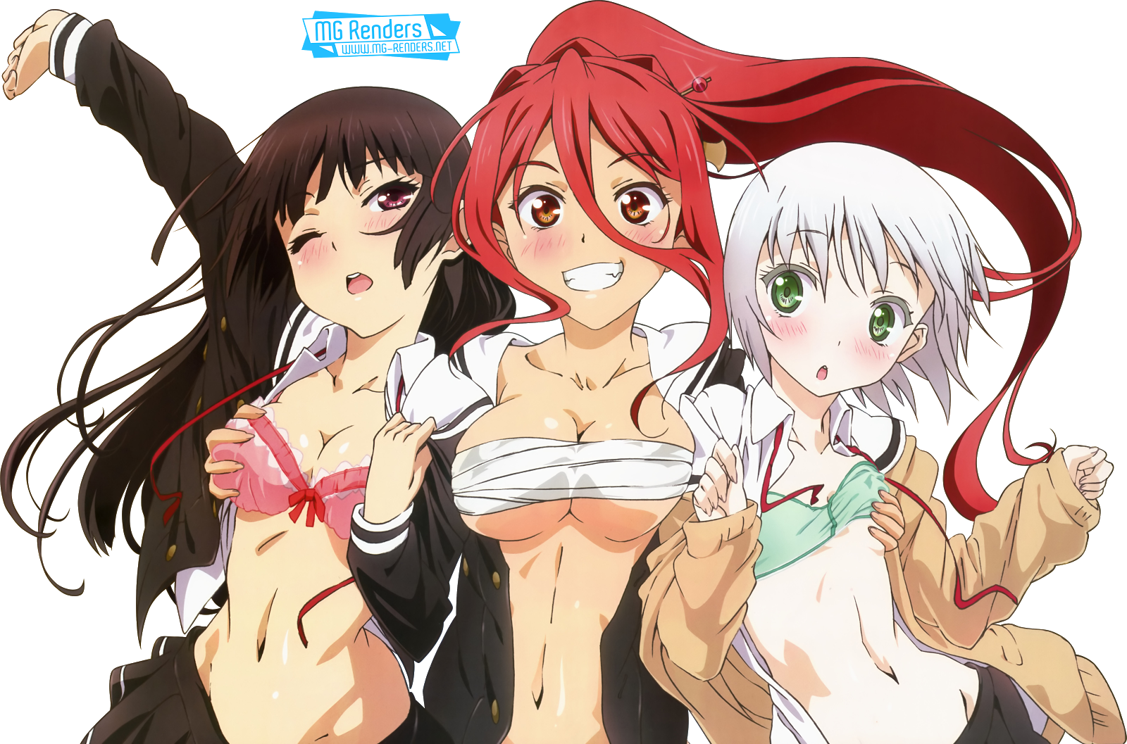 Tags: Anime, Render,  Himenokouji Akiko,  Nikaido Arashi,  Onii-chan dakedo Ai sae Areba Kankei nai yo ne,  Sawatari Haruomi, PNG, Image, Picture