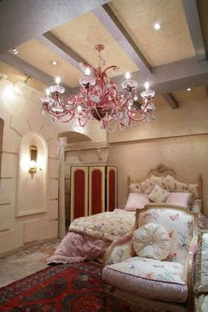 silver ceiling beams for bedroom interior