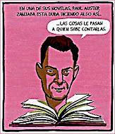 Paul Auster zanja la duda (viñeta de Paco Roca)
