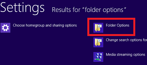 open folder options