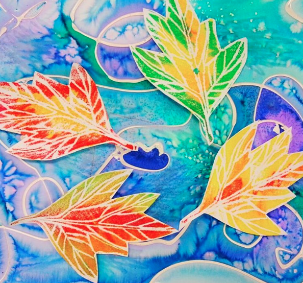 Art Ideas With Leaves: Cassie Stephens: In The Art Room: Printmaking Made Easy