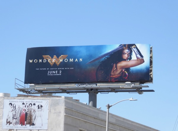 Wonder Woman movie billboard
