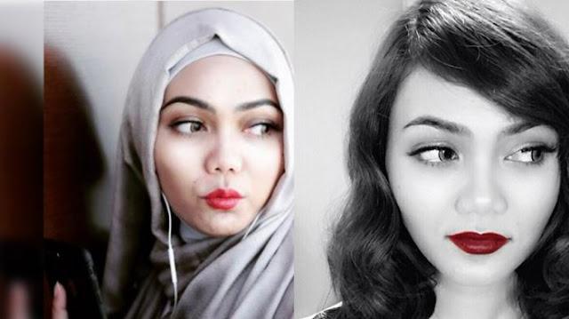 Rina Nose Lepas Jilbab