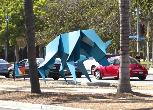 West Hollywood The Chase Hacer coyote sculpture