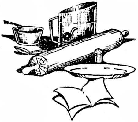 Reading, Roses & Prose: Making Pies ~ Clip Art in Black