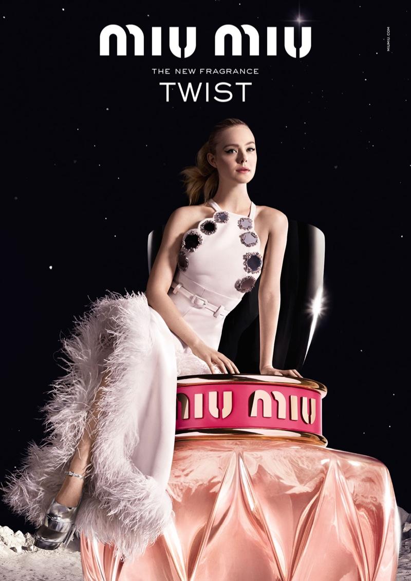 26c10d79048 Miu Miu Twist Fragrance Campaign featuring Elle Fanning