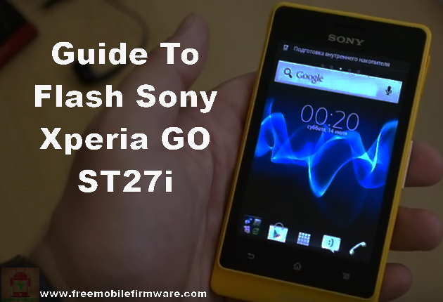 Sony Xperia GO ST27i Jelly Bean 4.1.2 Tested Firmware