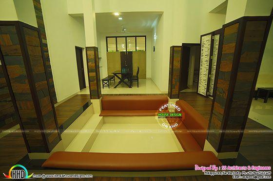 Sunken seating in Kerala