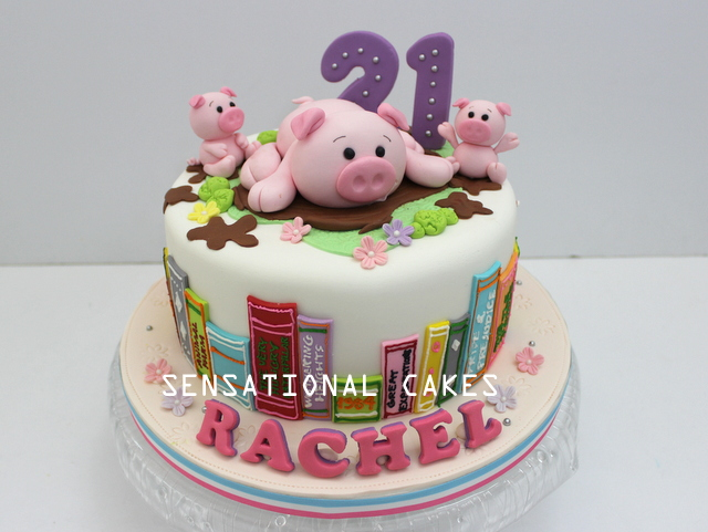 The Sensational Cakes PIGGIES PIGLET 3D CAKE SINGAPORE BOOK OF