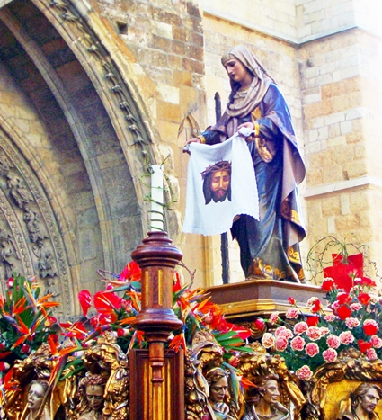 Paso de la Verónica. Cofradía del Dulce Nombre de Jesús Nazareno. León. Foto G. Márquez