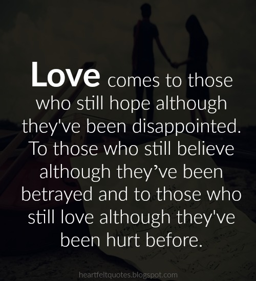 Dating someone who has been hurt before
