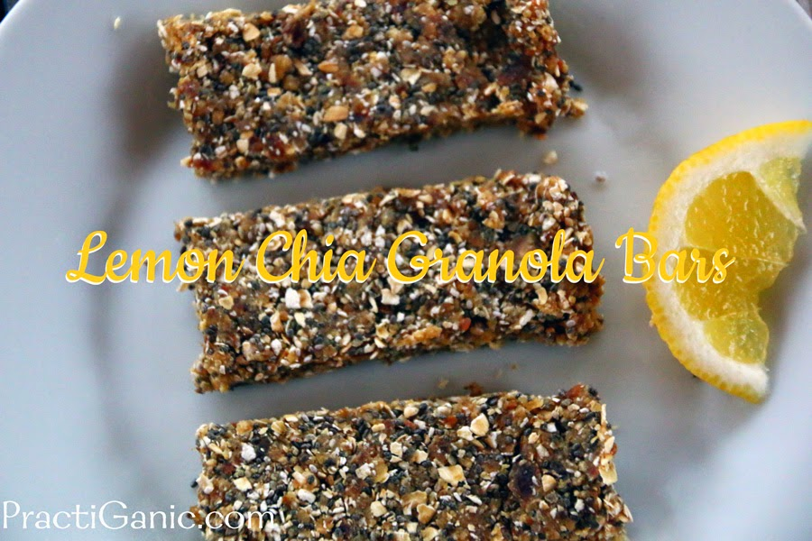 Lemon Chia Seed Granola Bars