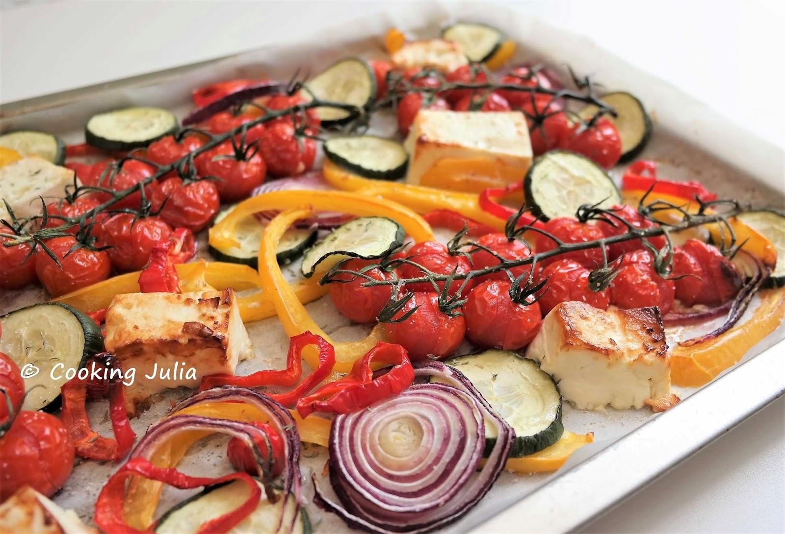 Cooking Julia Legumes Rotis Facon Salade Grecque