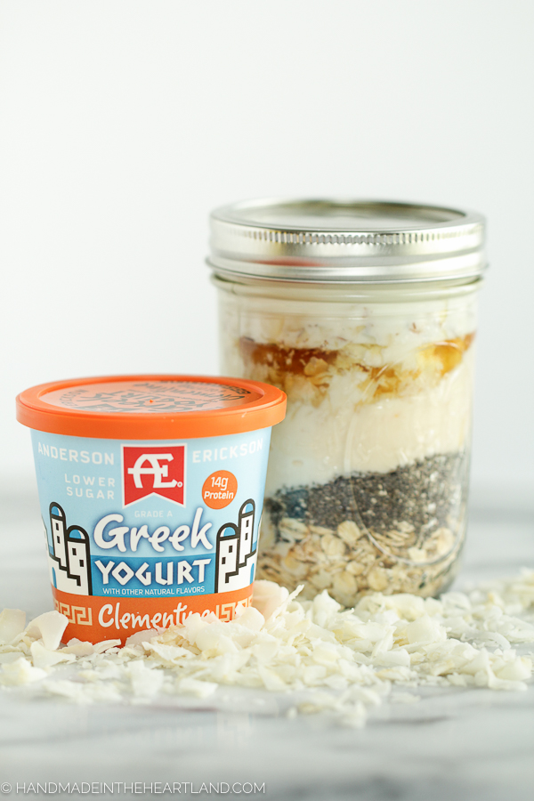 clementine greek yogurt overnight oats