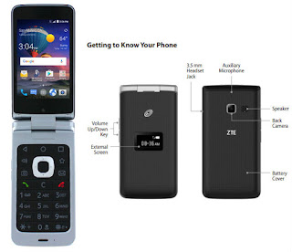 TracFone ZTE Cymbal T Android Flip Phone