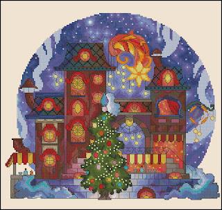 Cross-stitch «Ноябрь-декабрь» Надежда Григорьева (Mandarinks)
