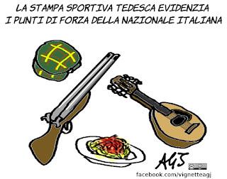 italiaGermania, euro2016, germania, italia, luoghi comuni, sport, calcio, umorismo, vignetta, satira