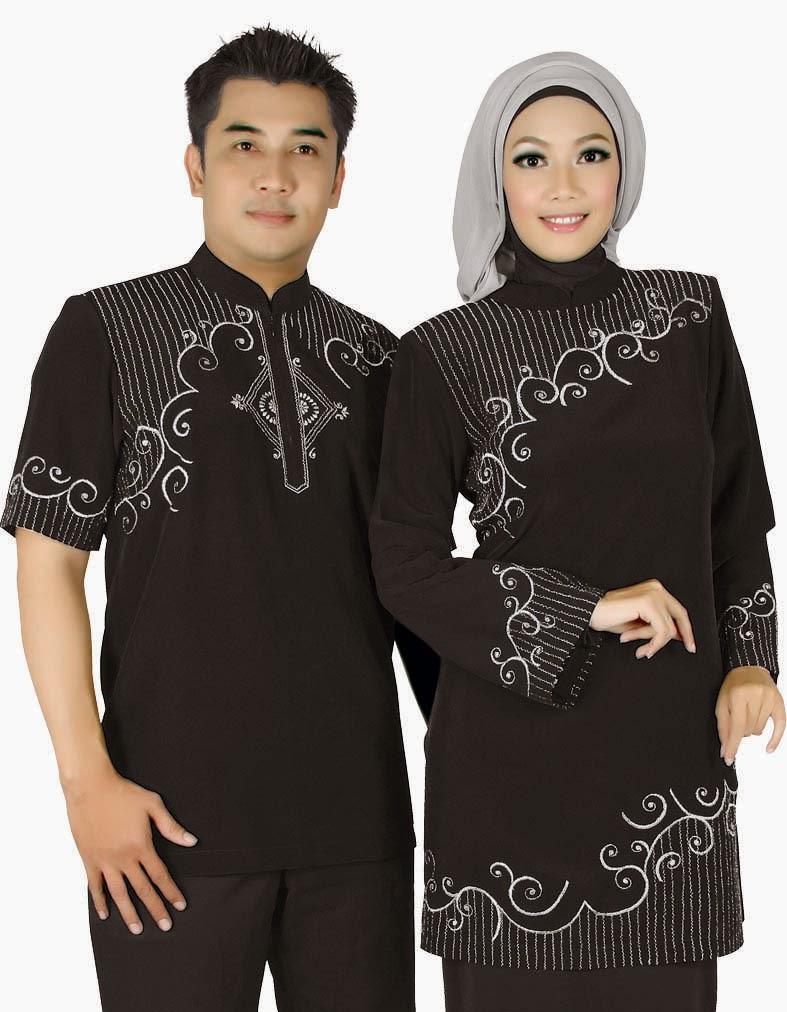 Model Baju Couple Terbaru Busana Muslim Lebaran 2017