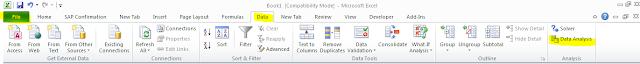 Untuk membuat histogram, klik Data Analysis
