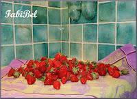 Les fraises au pesto de menthe.