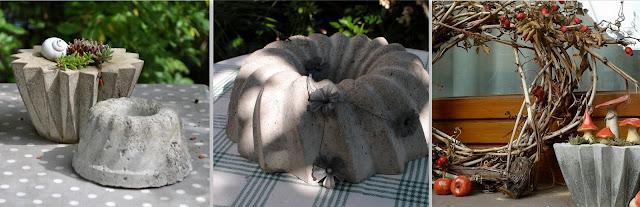 Gartendeko aus Zement