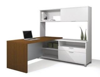 White Desk White L Shaped Desk