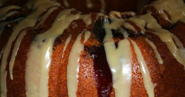 Jelly Glaze Recipe For Cake: Raspberry Jam Bundt With Peanut Butter Glaze