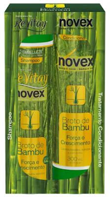 Linha Novex Broto de Bambu  cabelos fortes e sem queda