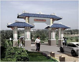 thiết kế cổng làng đẹp