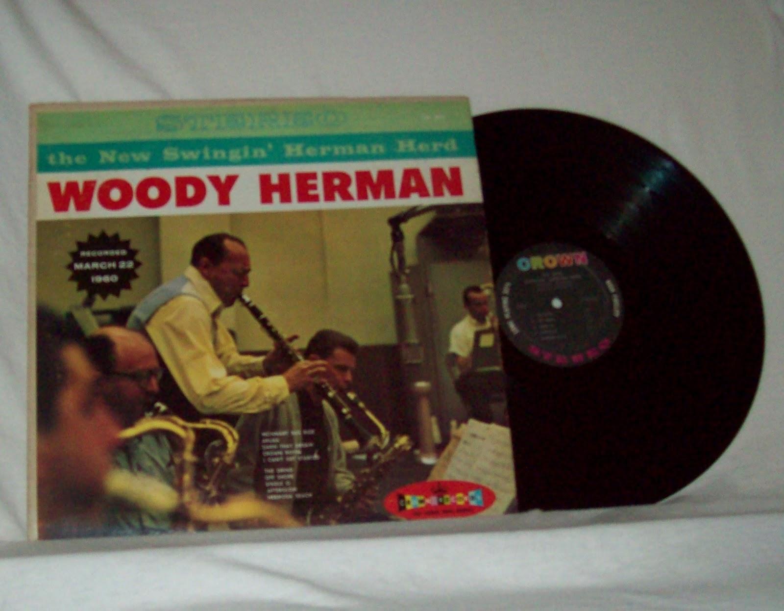 kc music shop woody herman the new swingin herman herd jazz vinyl lp for sale. Black Bedroom Furniture Sets. Home Design Ideas