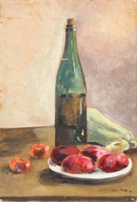 A 1923 painting by Filippo De Pisis entitled Still Life with a Bottle