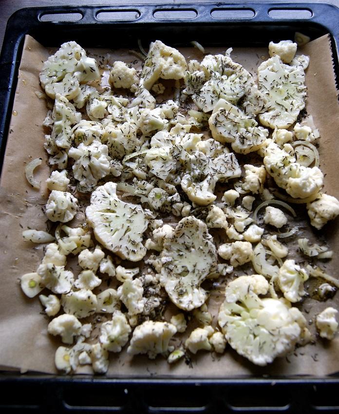 Kalafior zapiekany w piekarniku